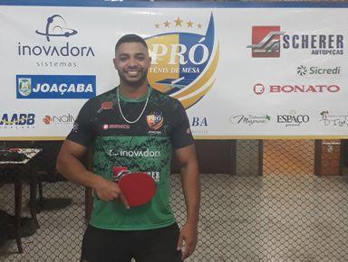 Mesatenista de Joaçaba está entre os 10 melhores do Brasil