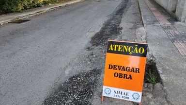 Parte da Av. Barão do Rio Branco próximo ao Hemosc estará interditada neste sábado para obras do SIMAE