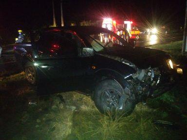Três pessoas ficam feridas em acidente na SC 135 em Videira