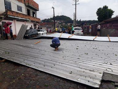 Chuva com granizo é registrada em Joaçaba e Herval