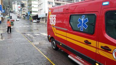 Ambulância que se envolveu na batida
