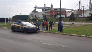 Caminhoneiros dão início à paralisação em Campos Novos