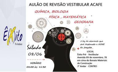 Aulão beneficente de revisão do Vestibular Acafe