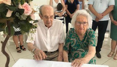 Em Ouro, casal completa 75 anos de casamento
