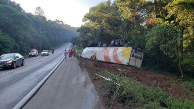 Acidente aconteceu na BR 282 em Joaçaba
