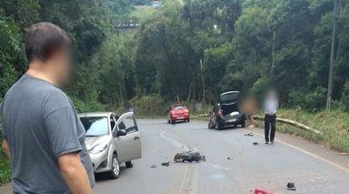 Jovem de 23 anos morre em acidente de moto na SC-135