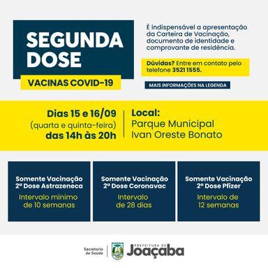 Joaçaba realizará nesta quarta (15) e quinta (16) somente vacinação para segundas doses