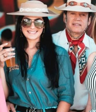 Renata da Rosa e Airton Machado estavam no ônibus — Foto: Reprodução/ Redes sociais