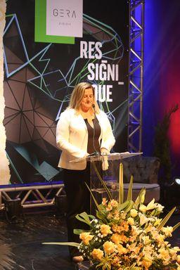 Rosane Kunen, falando sobre a Feira Gera