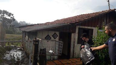 Temporal e queda de granizo causaram estragos na Serra Catarinense