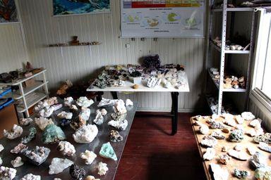 Alguns dos objetos expostos
