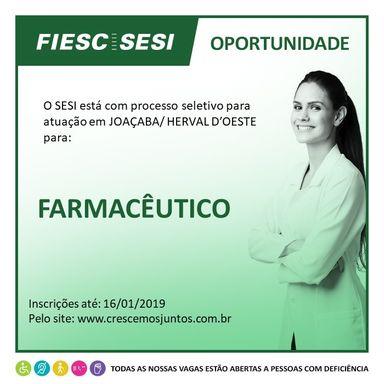 FARMACÊUTICO - SESI