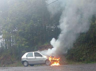 Incêndio em Veículo é registrado em Joaçaba