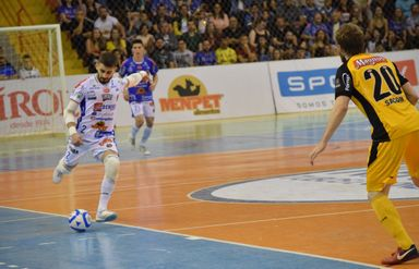 Léo Gugiel está no Joaçaba Futsal desde a temporada 2017 (Foto Mayelle Hall)
