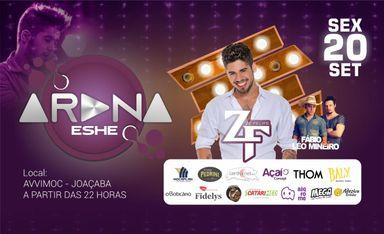 Show Nacional com Zé Felipe vai inaugurar o projeto Arena Eshe em Joaçaba