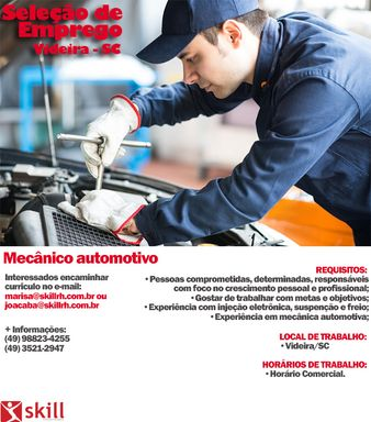 Mecânico automotivo- Videira - SC
