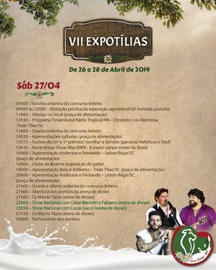 Expotílias inicia nesta sexta-feira, 26, em Treze Tílias