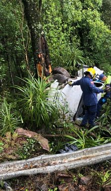 Óleo na pista causa três acidentes em Ponte Serrada