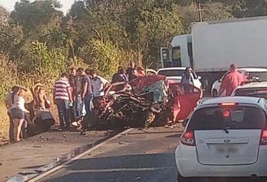 Confirmados três óbitos no acidente ocorrido na BR 282