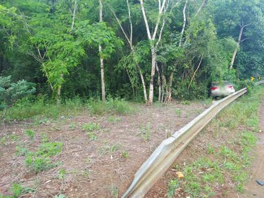 Saída de pista é registrada na SC 150 entre Joaçaba e Lacerdópolis