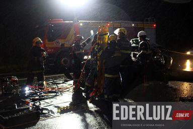 Homem de 28 anos fica gravemente ferido em acidente na BR 282 em Joaçaba