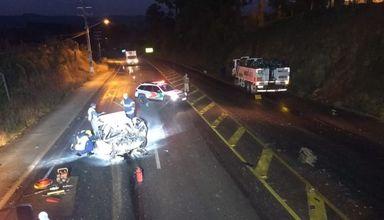 Acidente envolvendo caminhão de Joaçaba resulta em duas mortes na SC-135
