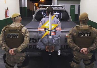 Polícia Militar cumpre mandado de prisão em Herval d' Oeste