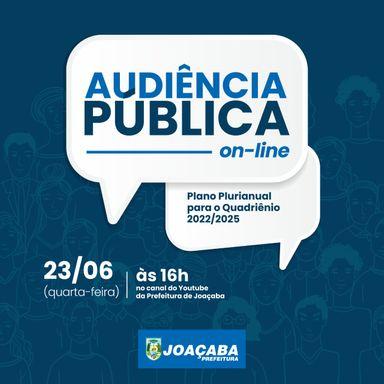 Prefeitura de Joaçaba convida para Audiência Pública de avaliação da proposta do Plano Plurianual