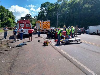 Veículo de Joaçaba se envolve em acidente na SC-135