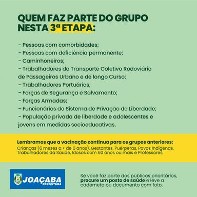 Joaçaba Inicia a 3ª Etapa de vacinação contra Gripe