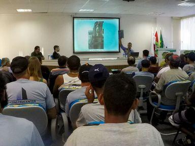 Tema da palestra foi: responsabilidade diante dos acidentes de trabalho