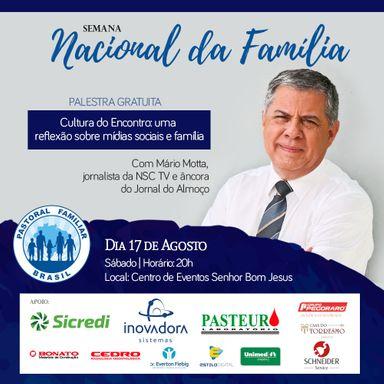 Palestra com o jornalista Mário Motta será realizada em Herval d'Oeste