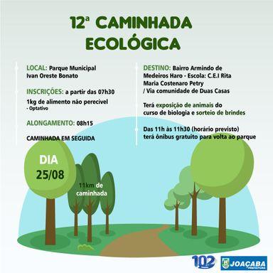 12ª Caminhada Ecológica de Joaçaba acontece no dia 25 de agosto