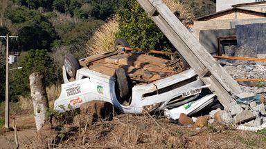 Passageiro morre em acidente com carro da prefeitura de Luzerna