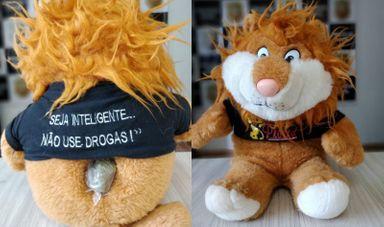 Droga é achada no traseiro de mascote do Proerd no Oeste de SC – Foto: Polícia Civil