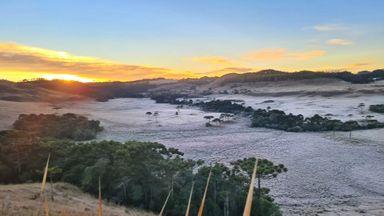 Santa Catarina amanhece pelo segundo dia seguido com temperatura abaixo de -5ºC