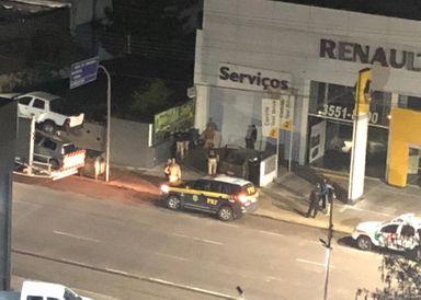 Perseguição na madrugada! Motorista foge da polícia e causa alvoroço no centro de Joaçaba