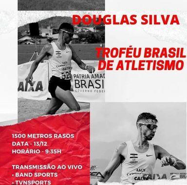 Douglas Silva estreia na maior competição de Atletismo do Brasil