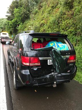 Acidente envolve dois caminhões, caminhonete e veículo de passeio na BR-282 em Joaçaba