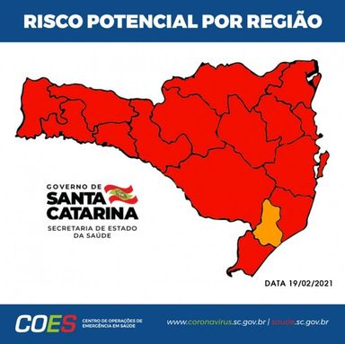 Matriz de Risco atualizada aponta 15 regiões em estado gravíssimo