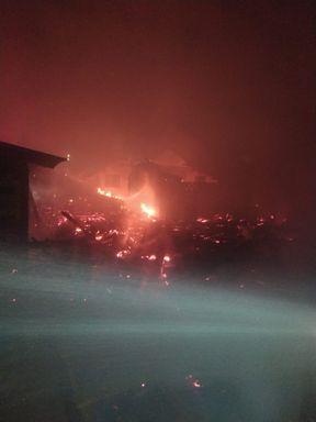 Incêndio atinge nove casas em Ponte Serrada