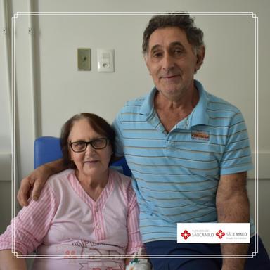 Casal de Piratuba, casado há 40 anos, recebe alta depois de ficar internado devido ao coronavírus