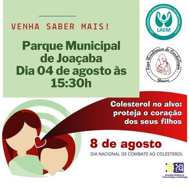 Campanha de conscientização sobre o colesterol acontecerá neste domingo, 04, no Parque de Joaçaba