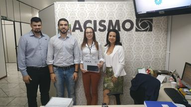 Visita na Associação Comercial e Industrial do São Miguel d'Oeste (ACISMO).