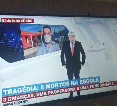 Cobertura ao vivo do portal Éder Luiz no Brasil Urgente com Datena